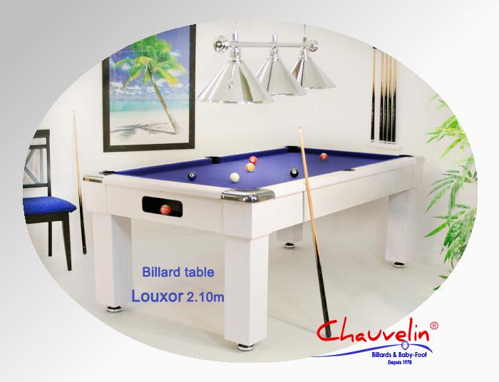 Billard Louxor blanc et bleu 2.10 m